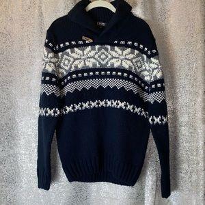 EUC L'UOMO pullover knit Wool sweater Mens Medium